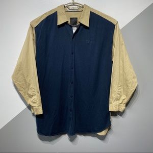 Sean John 2XL Button Shirt Sweater Knit Front
